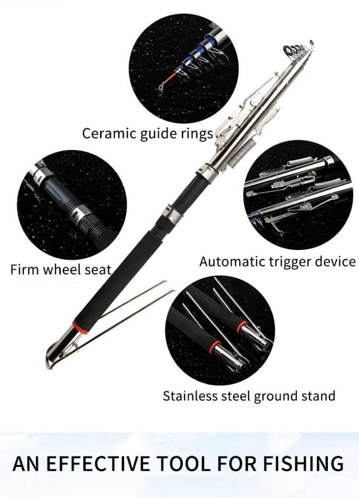 Oem Fishing Equipment 2.1m 2.4m 2.7m Carp Automatic Telescopic Fishing Rod